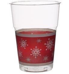 """Bicchiere Plastica """"Diamant"""" PS Cristal Fiocco di Neve 200ml (10 Pezzi)"""