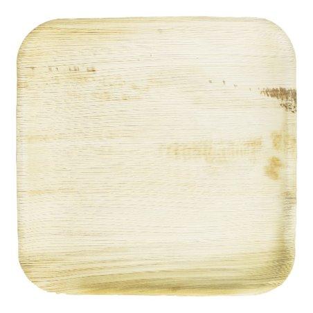 Piatto Quadrato in Foglia di Palma 15x15 cm (25 Pezzi)