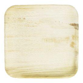 Piatto Quadrato in Foglia di Palma 24x24 cm (25 Pezzi)