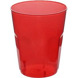 "Bicchiere Plastica ""Diamant"" PS Rosso Transp. Cristal 50ml (600 Uds)"