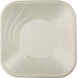 "Ciotola Plastica PP ""X-Table"" Perla 18x18cm (8 Pezzi)"