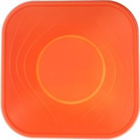 """Ciotola Plastica PP """"X-Table"""" Arancione 18x18cm (8 Pezzi)"""