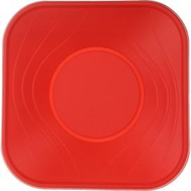 """Ciotola Plastica PP """"X-Table"""" Rosso 18x18cm (112 Pezzi)"""