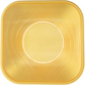 """Ciotola Plastica PP """"X-Table"""" Oro 18x18cm (8 Pezzi)"""