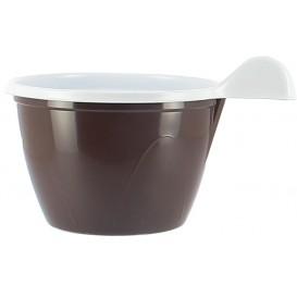 Tazze di Plastica PS Cioccolato 100 ml (20 Pezzi)