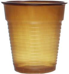 Bicchiere Plastica PS Vending Marrone 166ml (100 Pezzi)