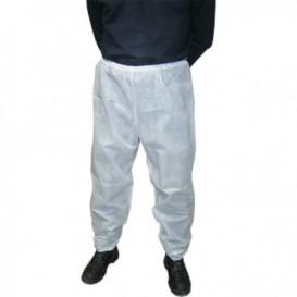 Pantalone Industriale in TNT di PP Bianco (100 Pezzi)