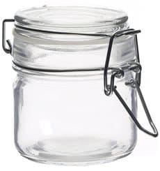 Barattolo di Vidrio Plastica Stagna 80 ml (24 Pezzi)