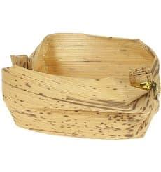 Mini Cestino Bambù Degustazione 3,8x5,8x3,8cm (25 Pezzi)