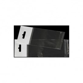 Sacchetti Polipropilene BOPP Piega Adesivo e Foro Europeo 27x36cm G160 (100 Pezzi)