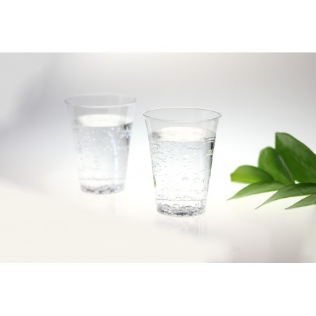 Bicchiere di Plastica Iniettato Trasparente 200 ml (25 Pezzi)