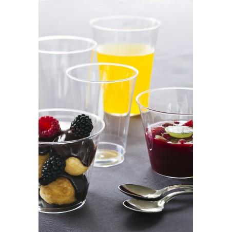 Bicchiere di Plastica Iniettato Trasparente 200 ml (500 Pezzi)