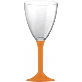 Calice Plastica Vino Gambo Arancione 180ml 2P (200 Pezzi)