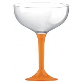Coppa Plastica Champagne Gambo Arancione 200ml 2P (20 Pezzi)