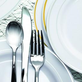 Forchetta di Plastica Metallo 190mm (50 Pezzi)
