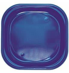 Piatto di Plastica PS Piazza Piano Blu Scuro 200x200mm (720 Pezzi)