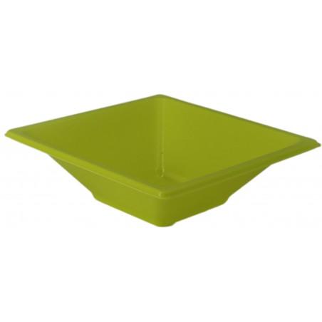 Ciotola Plastica Quadrato Pistacchio 120x120x40mm (12 Pezzi)