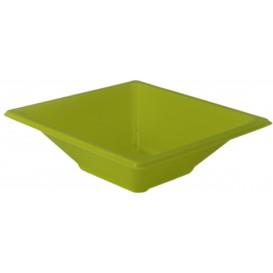 Ciotola Plastica PS Quadrato Pistacchio 12x12cm (25 Pezzi)