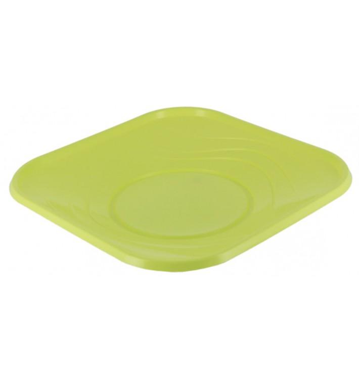"""Piatto di Plastica PP """"X-Table"""" Piazza Piano Lime 180mm (8 Pezzi)"""
