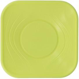 """Ciotola di Plastica PP """"X-Table"""" Quadrata Verde Pistacchio 180x180mm (8 Pezzi)"""
