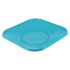 """Piatto di Plastica PP """"X-Table"""" Piazza Piano Turchese 230mm (8 Pezzi)"""