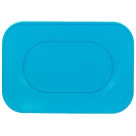 """Vassoio di Plastica PP """"X-Table"""" Turchese 330x230mm (2 Pezzi)"""
