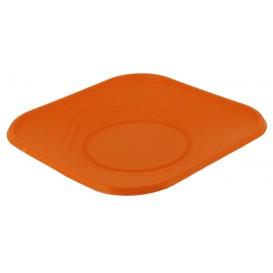 """Piatto di Plastica PP """"X-Table"""" Piazza Piano Arancione 230mm (120 Pezzi)"""