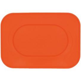 "Vassoio di Plastica PP ""X-Table"" Arancione 330x230mm (60 Pezzi)"