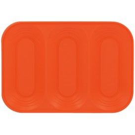 "Vassoio di Plastica PP ""X-Table"" 3C Arancione 330x230mm (30 Pezzi)"