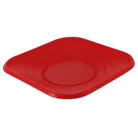 """Piatto di Plastica PP """"X-Table"""" Piazza Piano Rosso 230mm (120 Pezzi)"""