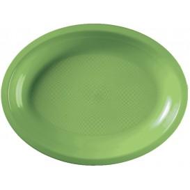 Vassoio Plastica Ovale Verde Acido Round PP 255x190mm (600 Pezzi)