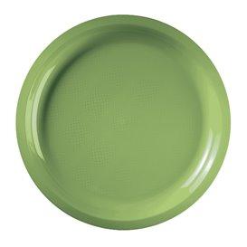 Piatto di Plastica Verde Acido Round PP Ø290mm (300 Pezzi)