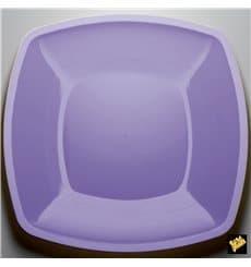 Piatto Plastica Piano Lilla Square PS 300mm (12 Pezzi)