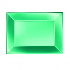 Vassoio Plastica Verde Nice Pearl PP 280x190mm (12 Pezzi)