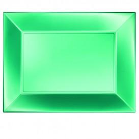 Vassoio Plastica Verde Nice Pearl PP 345x230mm (6 Pezzi)