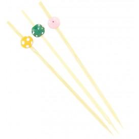 """Spiedi di Bambu """"Punteado"""" Assortiti 120mm (200 Pezzi)"""