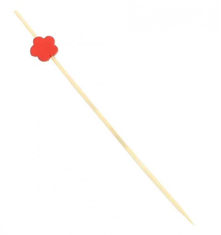 """Spiedi in Legno """"Fiore"""" Rosso 120 mm (5000 Pezzi)"""
