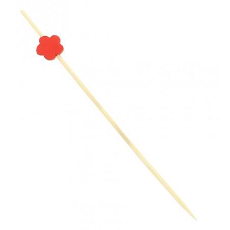 """Spiedi in Legno """"Flor"""" Rosso 120 mm (200 Pezzi)"""