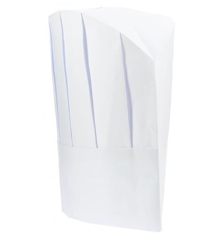 Cappello Cuoco Continental Carta Bianco (100 Pezzi)