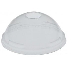 Coperchio Cupola con Foro PET Glas Ø9,2cm (100 Pezzi)