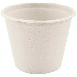 Coppetta Bio Canna da Zucchero Bianco Ø110mm 450ml (50 Pezzi)