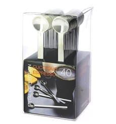Cucchiaino di Plastica Metal Espresso 100mm (40 Pezzi)