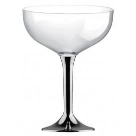 Coppa Plastica Champagne Gambo Nikel Cromato 200ml 2P (20 Pezzi)