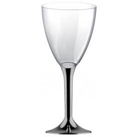 Calice Plastica Vino Gambo Nikel Cromo 180ml 2P (200 Pezzi)