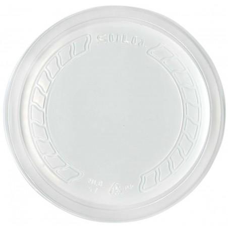 """Coperchio di Plastica PP """"Deli"""" Semitrasparente Ø120mm (50 Pezzi)"""
