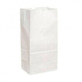 Sacchetto di Carta Kraft Bianco 18+11x34cm (25 Pezzi)