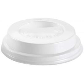 Coperchio con Foro Plastica PS Bianco Ø8,0cm (1000 Pezzi)