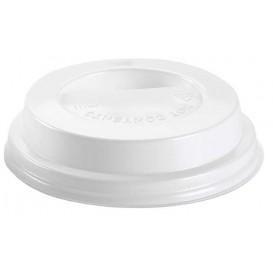 Coperchio con Foro per Bicchiere 6 e 8 Oz Bianco Ø7,9cm (100 Pezzi)
