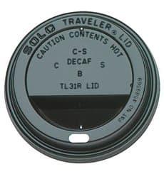 Coperchio Nero con Foro per Bicchiere di Carta 12, 16 e 20 Oz Ø8,9cml (100 Pezzi)