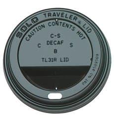 Coperchio Nero con Foro per Bicchiere di Carta 12,16 e 20 Oz Ø8,9cm (1000 Pezzi)
